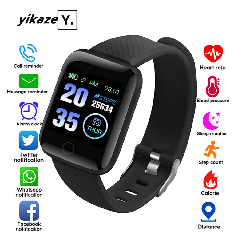 116 Smart Watch Heart Rate Fitness Tracker Watches Men Women Blood Pressure Monitor Waterproof Sport Smartwatch For Android IOS(China)
