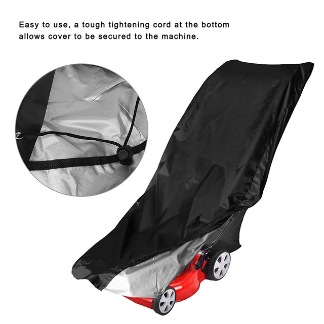 Waterproof Dust Rain Proof Outdoor Garden Sunscreen Lawn Mower Cover Dustproof Weeding Machine Cover Dust Cover Protection 6