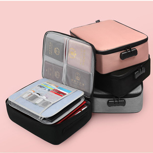 Image 5 - Document Ticket Bag Large Capacity Certificates Files Organizer for Home Travel Important Items GK99