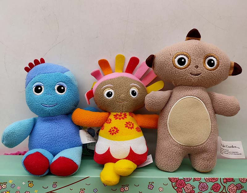 In The Night Garden Soft Plush Toys, IgglePiggle, Upsy Daisy, Macca Pakka