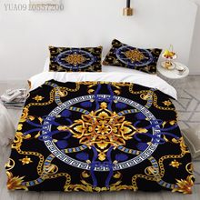 Classic Luxury Duvet Cover 3D Print European Pattern Bedding Set Microfiber Bedclothes Double King Size Quilt Cover Bed Linen