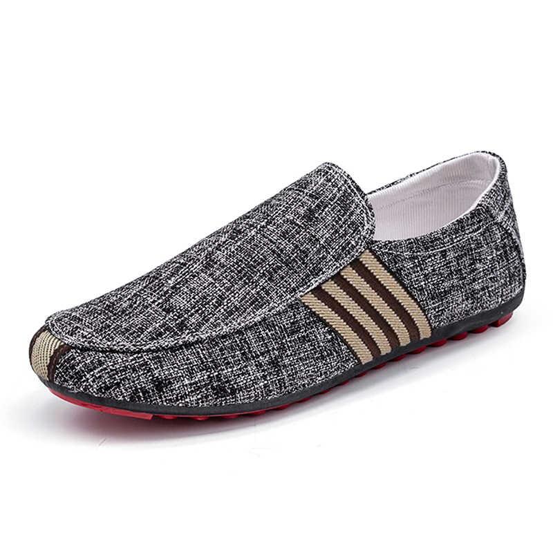 حذاء رجالي كاجوال رياضية الصيف شبكة تنفس مريحة حذاء رجالي المتسكعون footwears Slipon المشي كبير حجم 38-48