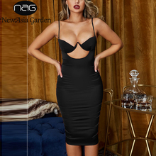 NewAsia Chest Hollow Out Sexy Dresse Women Summer Spaghetti Straps Birthday Party Bodycon Long Dress Rose Gold Satin Dress White