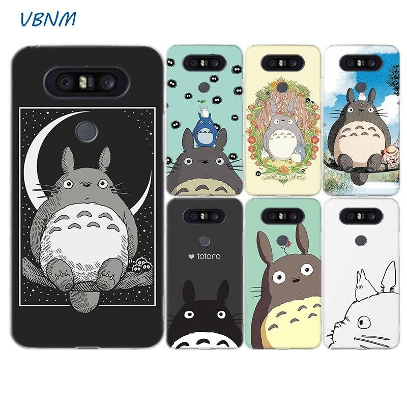 Cute Totoro Anime Cartoon Fashion Soft Silicon Phone Case For LG G8S G7 G6 G5 G4 V40 V30 V20 V10 Q7 Q8 Q6 K8 K10 2018 2017 Cover
