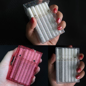 New Rainbow Female Ultra-Thin Can hold 20 Cigarette Case Colored Sparkling Smoking Accessories Best Christmas Gift for friend
