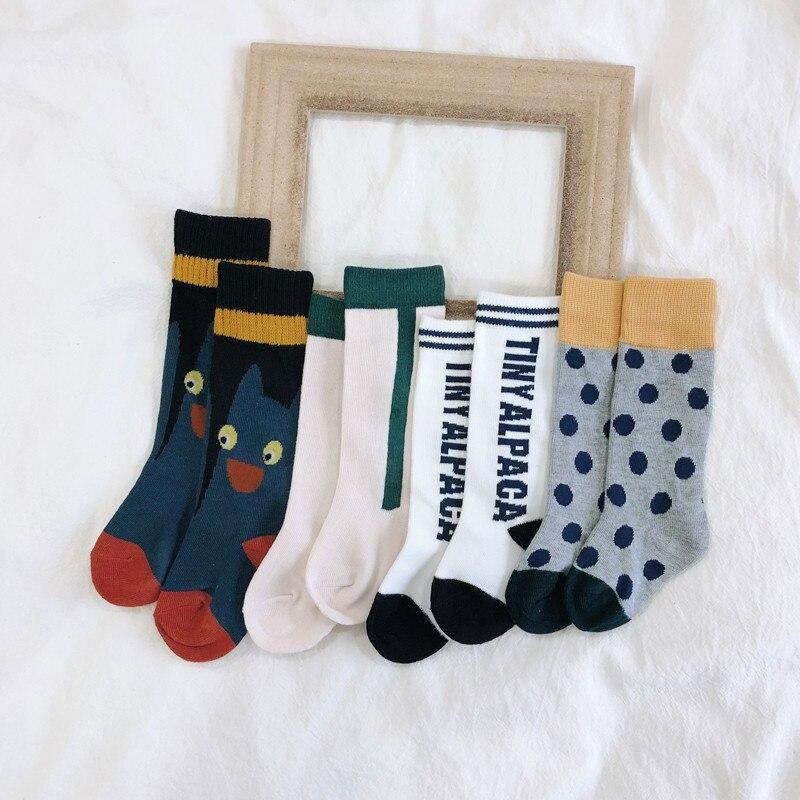 EnkeliBB 2019 Fashion Kids Tube Socks Fall Winter Toddler Girls Boys Wolf And Rita Design Cotton Socks Baby Brand Polka Dot Sock