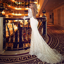 For Insider V neck floral lace long sleeve white maxi dress Women club party Elegant backless bodycon festa