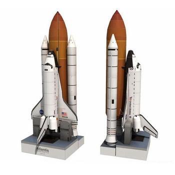 1:150 3D Paper Model Space Shuttle Handmade DIY Prop Shuttle Atlantis Puzzle Model Children Paper Toys for Education 1