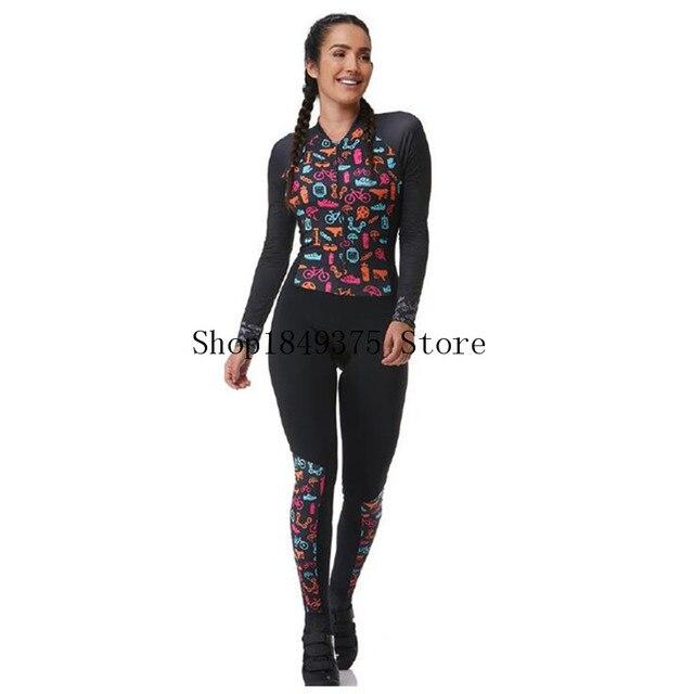 Triathlon skinsit verão esportes das mulheres manga longa calças compridas conjunto camisa de ciclismo macacão roupa feminina uniforme 2020 2