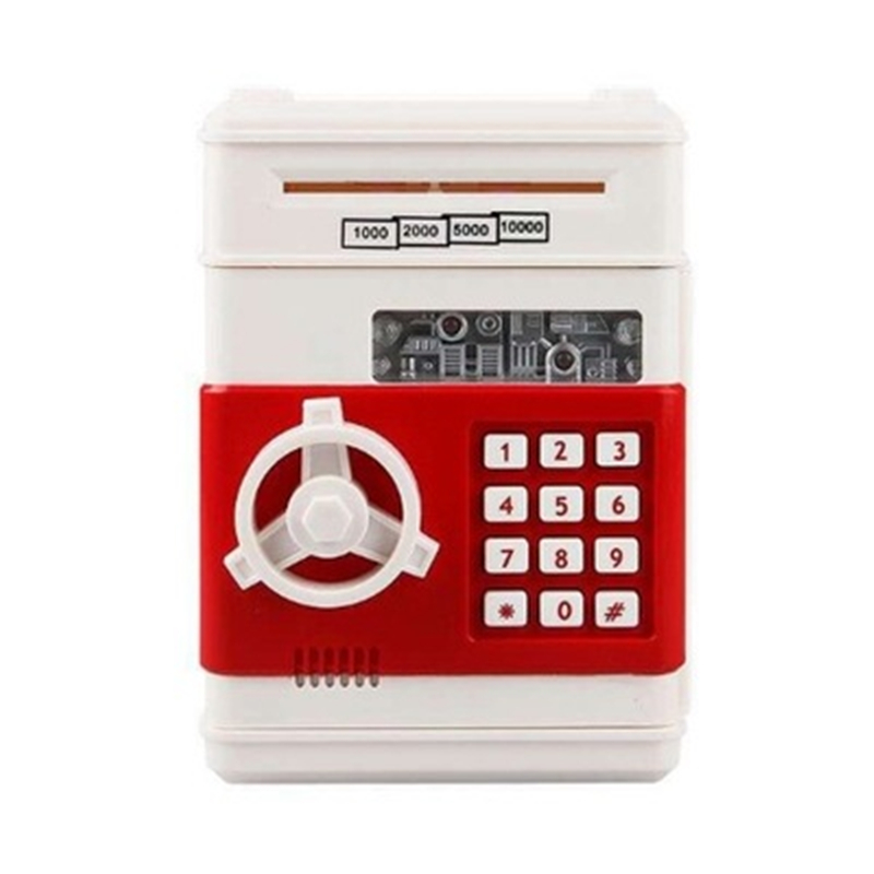 Contraseña electrónica, hucha, caja de dinero ATM, dinero en efectivo, depósito automático, billetes, máquina de ahorro de dinero, caja fuerte de banco|Cajas de dinero|   -