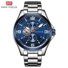MINI FOCUS Mens Watches Top Brand Luxury Mens Wristwatch Quartz Wrist Watch Men Waterproof Stainless Steel Relogio Masculino New
