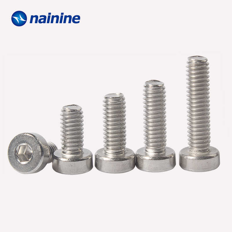 10/50Pcs DIN7984 M3 M4 M5 M6 M8 Hexagon Socket Head Cap Screws With Low Head 304 Stainless Steel HW215