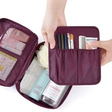 Litthing Travel Cosmetic Bag Organizer Waterproof Multifunction Zipper Women Toiletry Makeup Storage Make up Cases