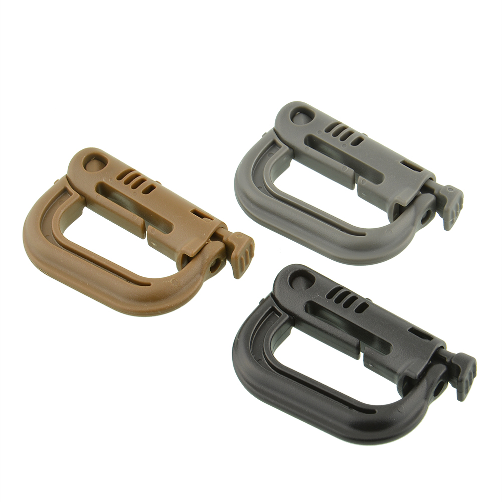 Hanging Key Rings Military Outdoor Bag D Buckle Molle D-Ring Shackle Climbing Accessories Link Carabiner Tactical Waterproof