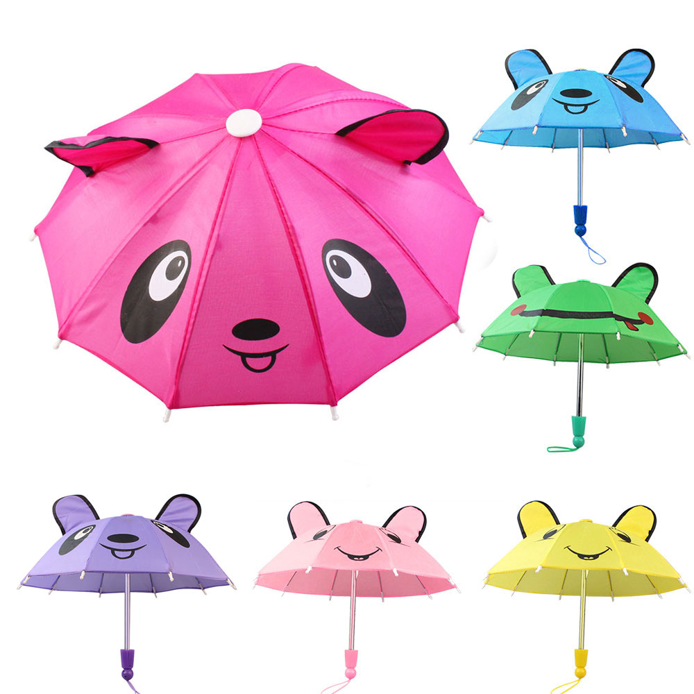 Baby Girl Doll Umbrella Accessories For 18 Inch American Dolls Clothes Handmade Outdoor Gift For Children Born Toys Accessories