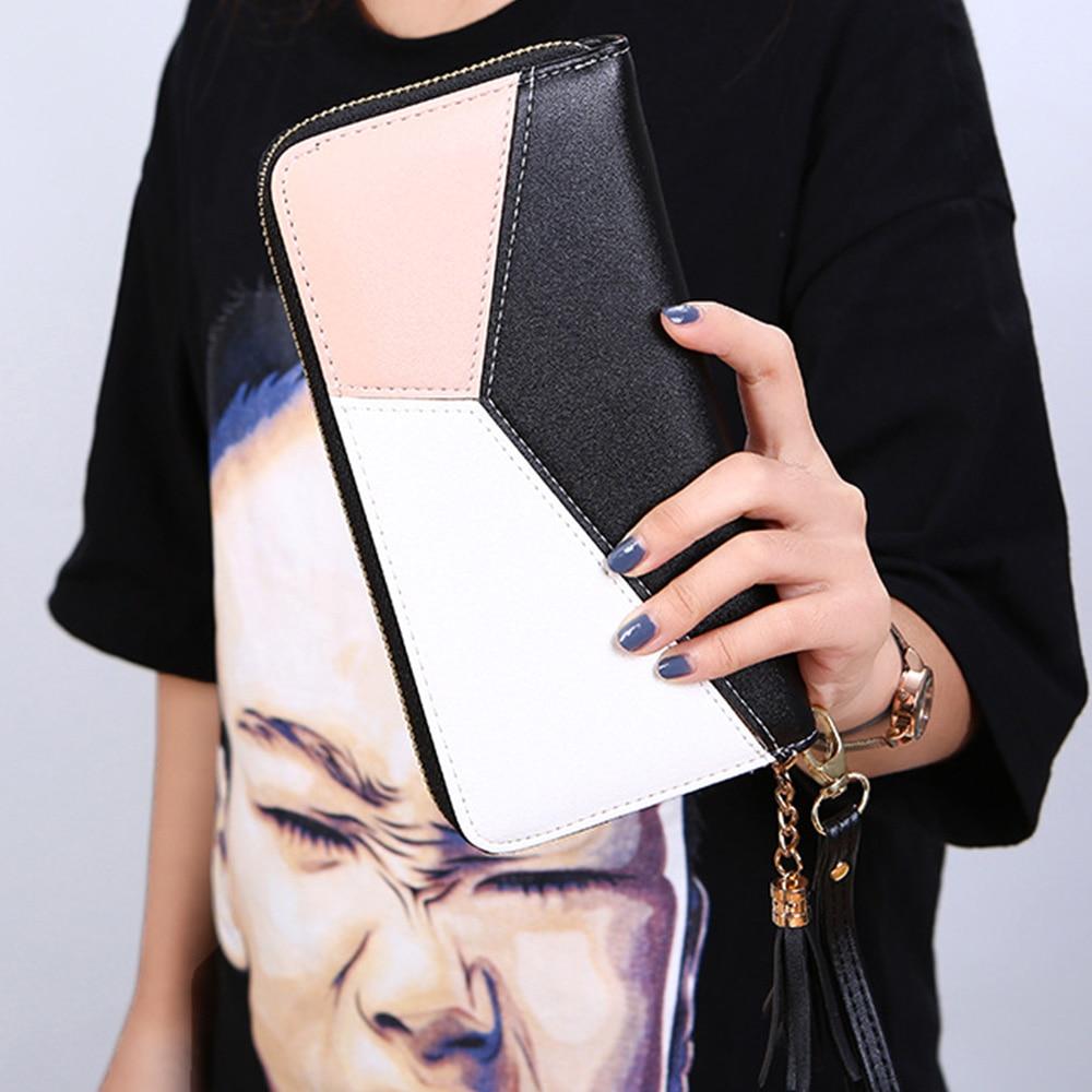 Купить с кэшбэком Wristband Women Long Wallet Many Departments Female Wallets Clutch Money Bag Ladies Purse Zipper Phone Pocket Card Holder