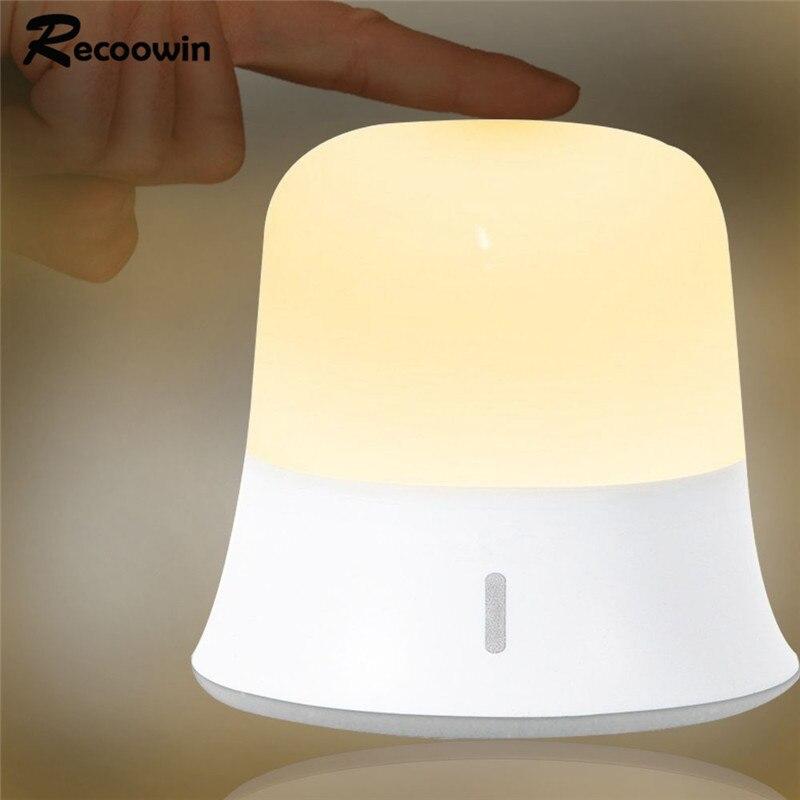 Детский Ночной светильник, портативный светодиодный ночник, сенсорный, с регулируемой яркостью, водонепроницаемый, походный светильник