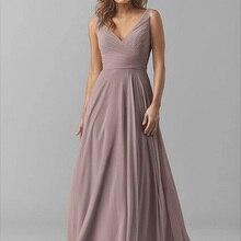 2020 New Bridesmaid Dresses V-Neck Wedding Party Dr