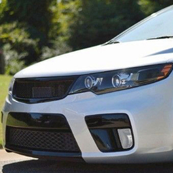 Use for Kia Forte5 koup racing grills 2010--2013 year carbon fibre refitt front center racing grill cover accessorie body kit
