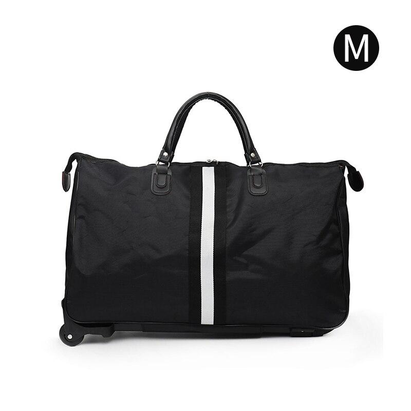 Полосатая сумка для переноски, водонепроницаемая нейлоновая сумка-тролли для путешествий, мужские дорожные сумки, складной чемодан с колесами XA225C - Цвет: Style 1 M