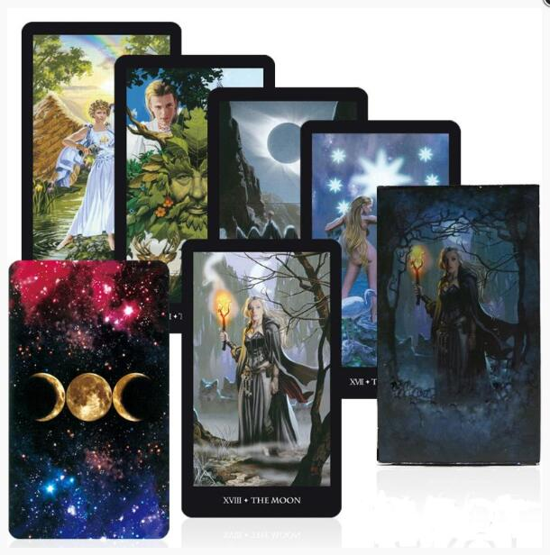 78Pcs/set Witches Tarot Cards Box Set Game English Tarot Deck Table Card Game Board Games Party Playing Cards Family Games
