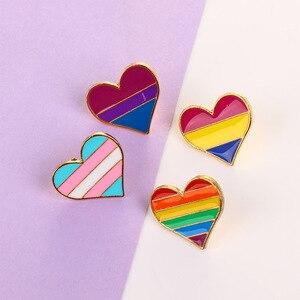 Разноцветные Броши Милая эмалированная брошь в виде радуги для мужчин и женщин