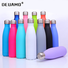 Logo özel termos şişe su şişeleri çift duvar yalıtımlı termos paslanmaz çelik bardak açık spor Drinkware
