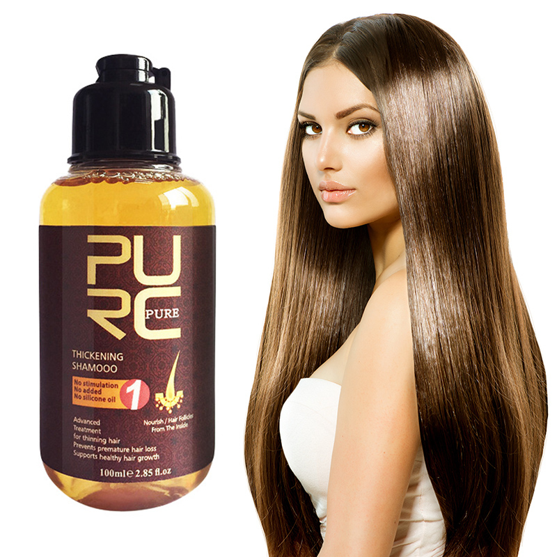 PURC Herbal Ginger Shampoo Hair Care Essence Care Prevention Hair Loss Promote Growth Shampoo Nourish Hair Care TSLM1