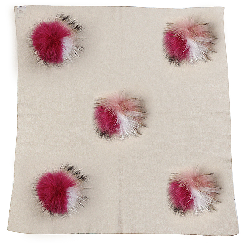 2019 New Newborn Soft Warm Wool Swaddling Blanket Bedding Swaddles Wrap Baby Birth Gift With 15cm Triple Color Real Fur Pom Pom