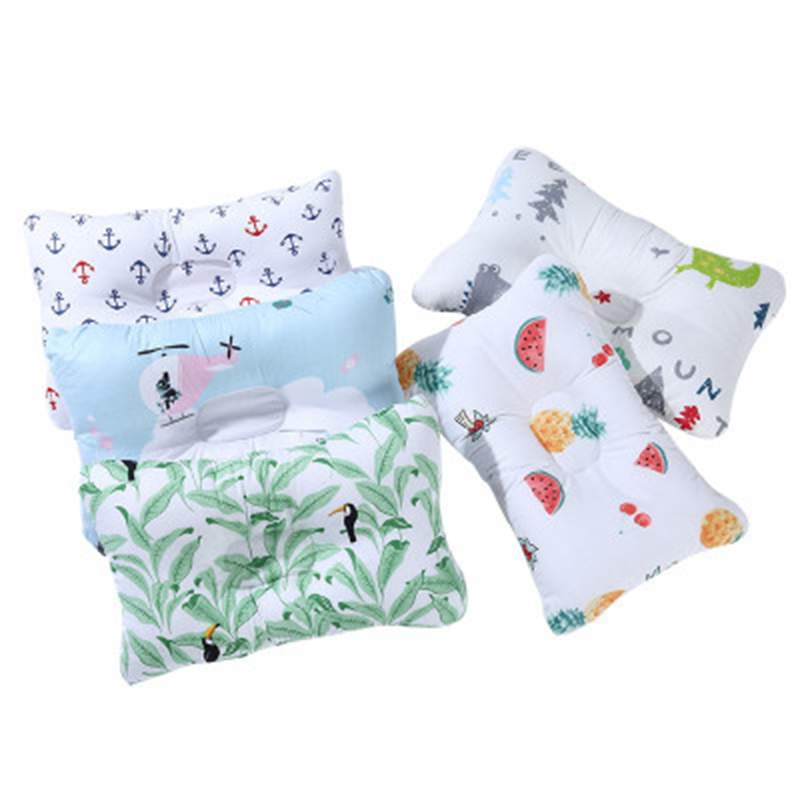 Newborn Appease Sleep Pillow Kid Care Cartoon Pillows Printing Prevent Flat Head Shape Cushion Baby Head Protection Soft Cushion
