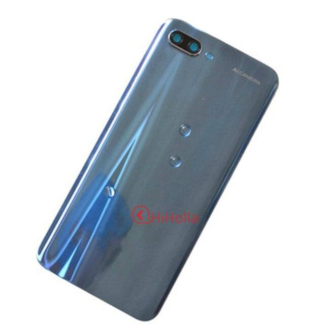 Panneau arrière en verre pour Huawei Honor 10 couvercle de batterie boîtier de porte arrière en verre pour Honor 10 couvercle de batterie + objectif de cadre de caméra