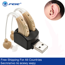 Hearing Aid Aids-Device Sound-Amplifier Ear-Care-Tool Rechargeable Invisible Wireless