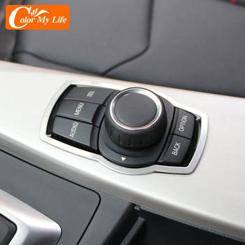 Stainless Steel Interior Refit Multimedia Buttons Panel Cover Trim for BMW X1 X3 X5 X6 F20 F01 F30 F15 F34 F31 Accessories image