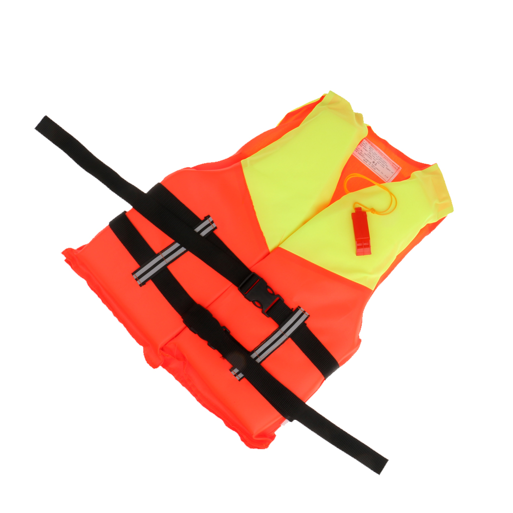 2 Color Lifesaving Adjustable Adults Kids Life Jackets Swimming Drifting Floating Vest For Water Sports