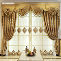 Европейские жаккардовые шенилловые занавески для гостиной, столовой, спальни, виллы, оконные занавески, роскошные дверные занавески с выши...