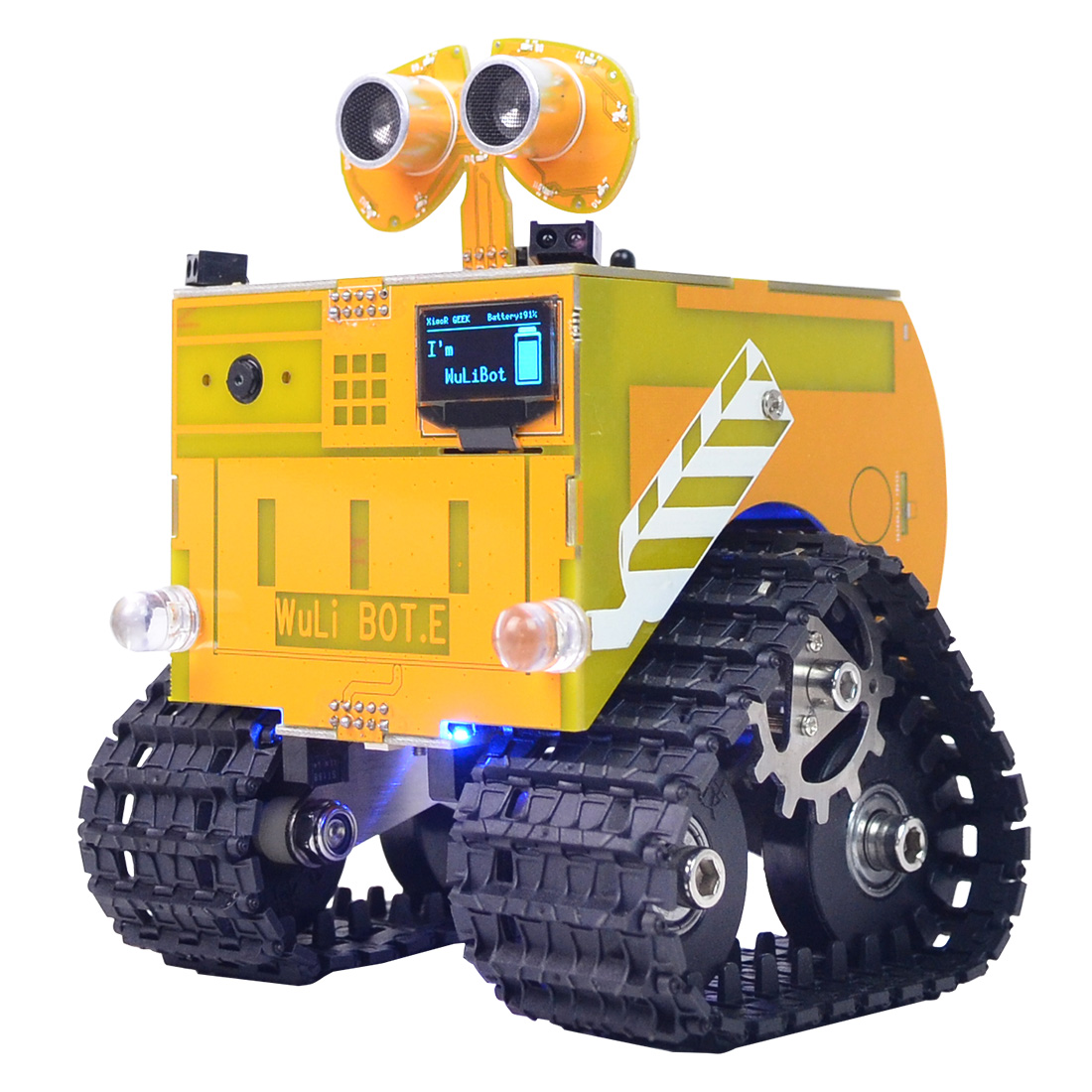 WuliBot Scratch + Mixly Programmable Robot RC Programming Track Car Steam Educational Programable Toys With / Without  Camera