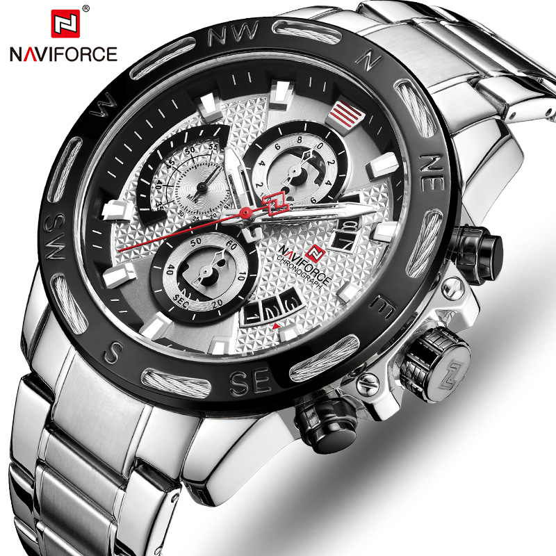 NAVIFORCE Men's Watches Top Brand Luxury Bussiness Watch Fashion Quartz Men Wristwatch Military Clock Male Relogio Masculino