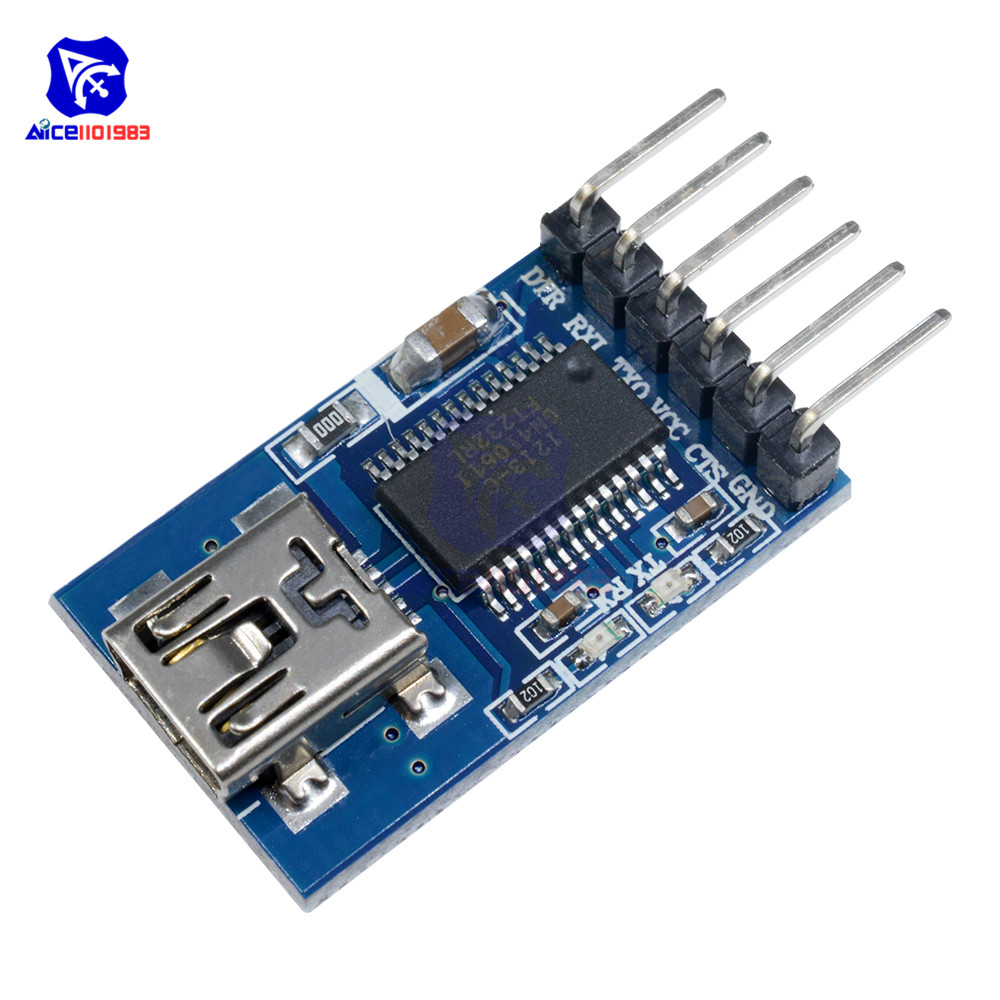 diymore <font><b>FT232RL</b></font> <font><b>FTDI</b></font> <font><b>USB</b></font> <font><b>to</b></font> <font><b>TTL</b></font> Serial Adapter Module for Arduino Mini <font><b>USB</b></font> Port <font><b>3.3V</b></font> <font><b>5.5V</b></font> image