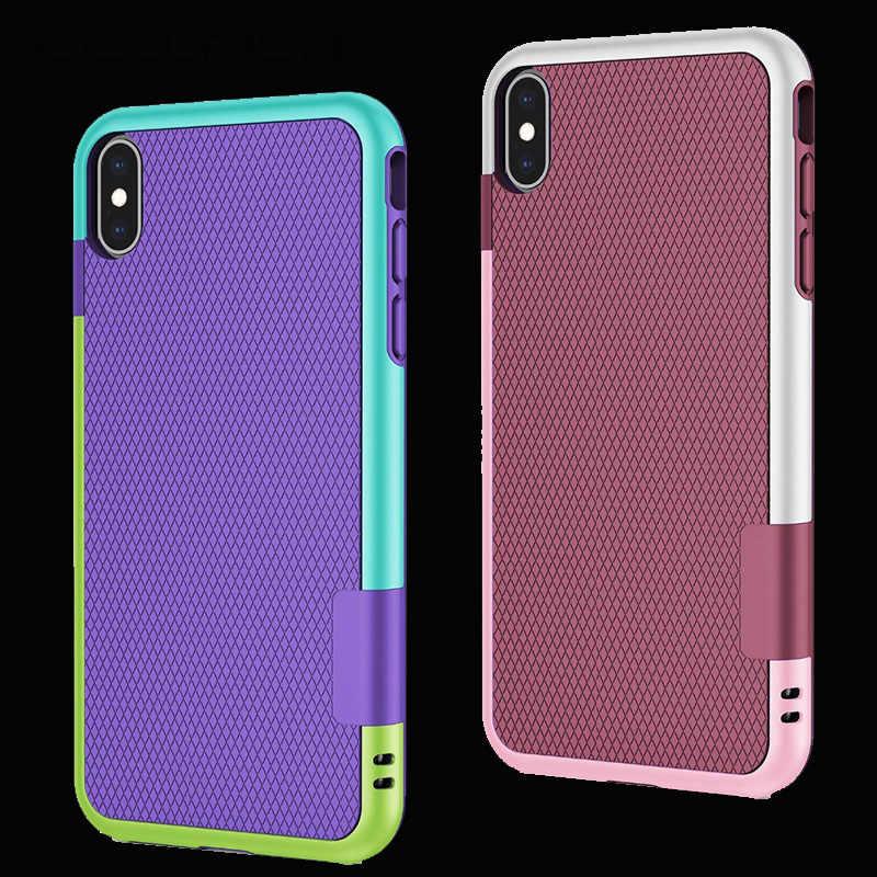 Chống sốc Hybrid Silicone Ốp Lưng Chống Va Đập cho funda iPhone 6S 7Plus 7 8 Plus XS Max XR Chống Trơn Trượt coque cho Iphone 11 Pro Max Bao