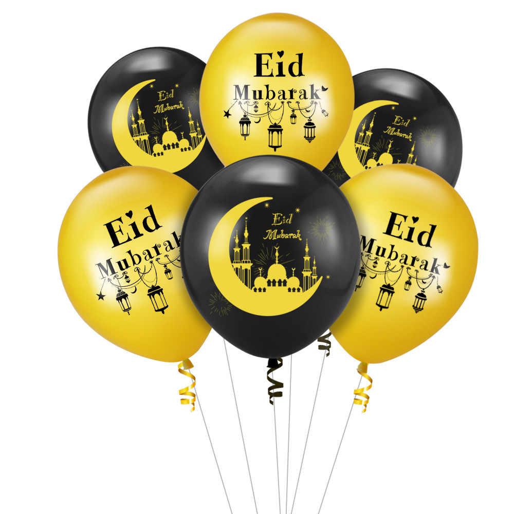 Papel De Aluminio Globos Eid MUBARAK carta conjunto Eid al-Adha Fiesta Decoración De 16 pulgadas