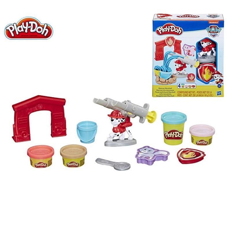 Hasbro Play Doh Pow Clay Play Dough Patrol Dog Children Plasticine Fire Fighting Set Toys