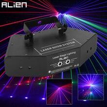 ALIEN RGB Voll Farbe Strahl Linie Scanner DMX Bühne Laser Projektor Beleuchtung Wirkung DJ Disco Party Urlaub Dance Weihnachten Lichter