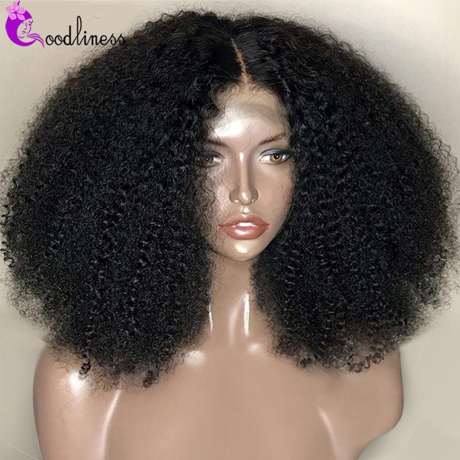 Mongol natural afro curto encaracolado peruca do laço do cabelo humano 4x4 peruca do laço remy das mulheres 250 densidade curto encaracolado afro peruca de cabelo humano