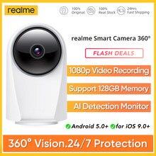 Realme Smart Cam 360 ° Vision 24/7 ochrona nagrywanie wideo 1080p wykrywanie AI monitorowanie widzenie nocne z wykorzystaniem podczerwieni nadzór wideo