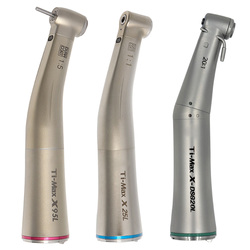 Ti-Max X25L/X95L Stijl Dental Fiber Optic Contra Hoek Lage Snelheid Handstuk 1:1/1:5/20:1 air Turbine