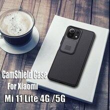 For Xiaomi Mi 11 Lite Case NILLKIN CamShield Case Slide Camera Protection Cover For Xiaomi Mi11 4G Mi11 Lite 5G Case