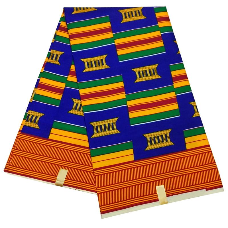 Shenbolen African Wax Print Fabric Kent Fabric 6yards Ankara African Fabric Ankara Wholesale Polyester Wax Fabric For Dress