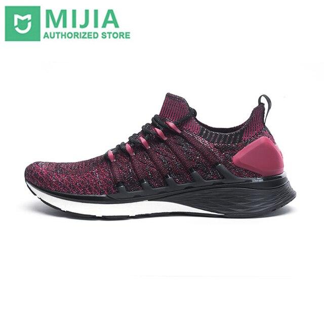 Xiaomi Mi Mijiaรองเท้า3รองเท้าวิ่งชายกีฬารองเท้าผ้าใบคอมโพสิตรองพื้นPUสนับสนุนชั้นหนาฟองน้ำพื้นรองเท้าสบาย