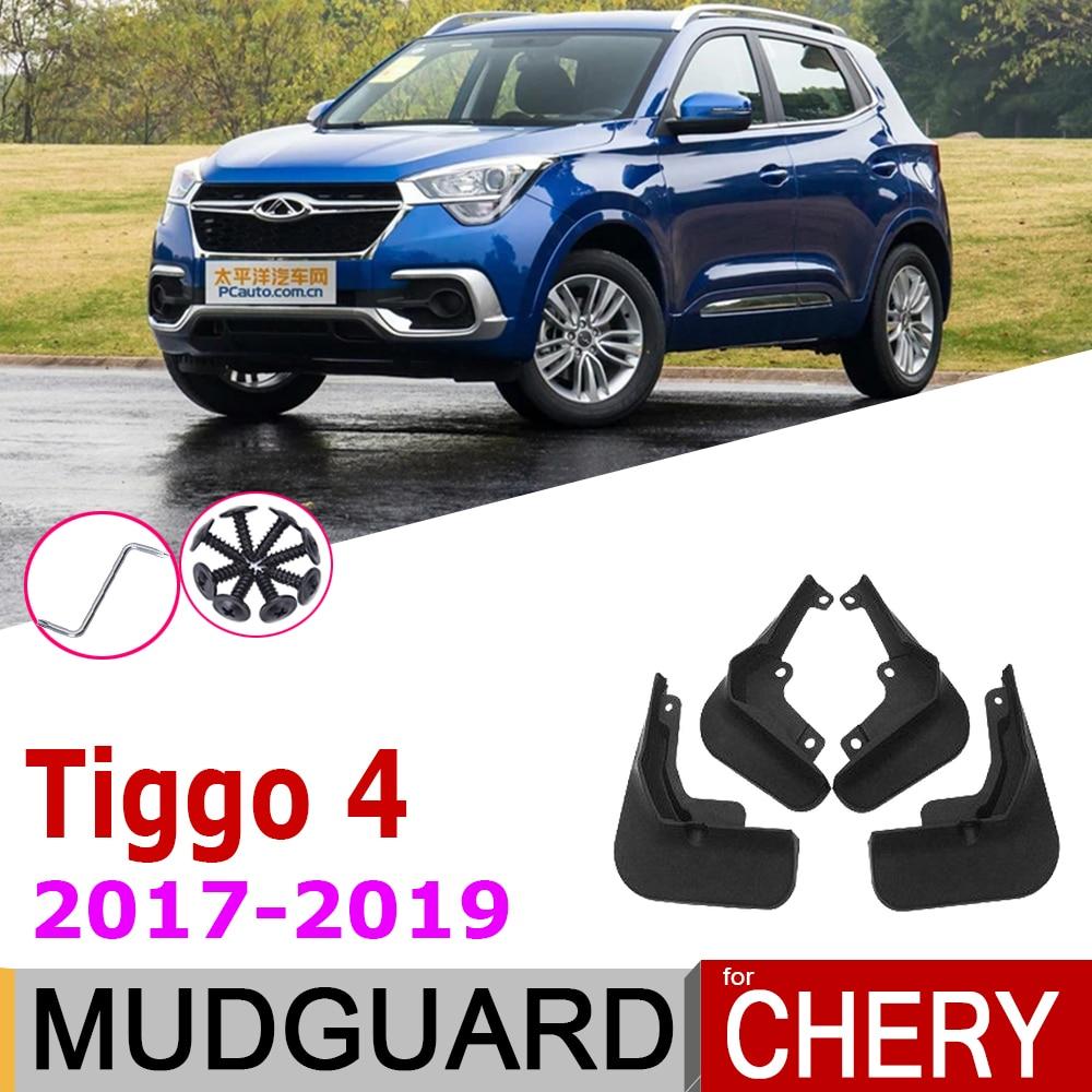 Car Mudguards For Chery Tiggo4 Tiggo 4 5X 2019 2018 2017 4PCS Front Rear Mudflap Fender Mud Flaps Guard Splash Flap Accessories(China)
