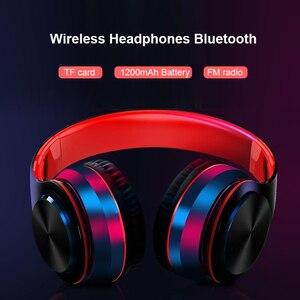 Image 4 - NDJU casque sans fil Bluetooth écouteur Bluetooth casque pliable réglable mains libres casque avec micro pour téléphone portable